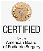 Dr Sandra Gotman - Certified by the American Board of Podiatric Surgery